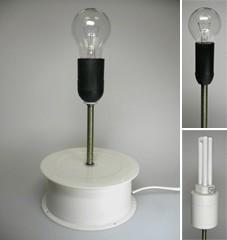 Table tournante pour présentoirs tournants avec éclairage fixe