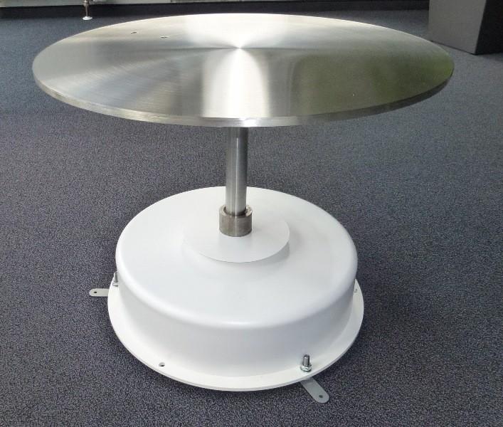 Table tournante avec extension d'axe et plateau en acier inoxydable