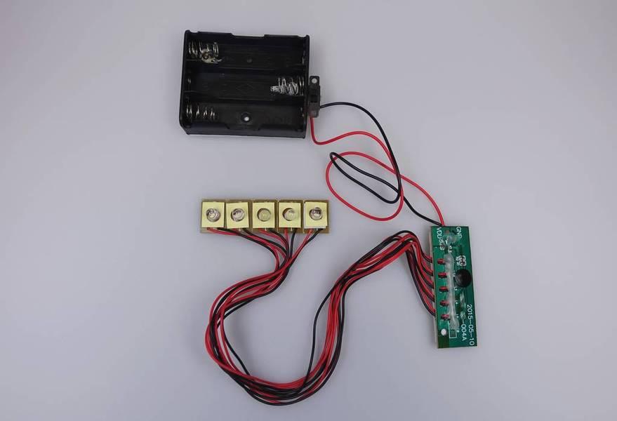 Circuit 5 LED dia. 5mm, PCB driver, durée de vie 6 mois non-stop